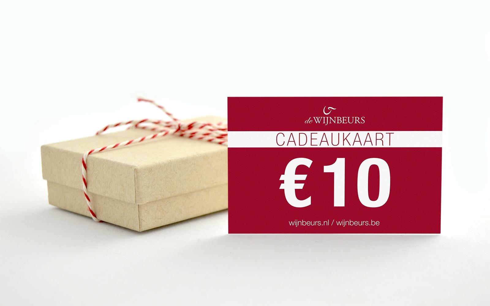 Cadeaukaart 10 euro wijnbeurs.nl