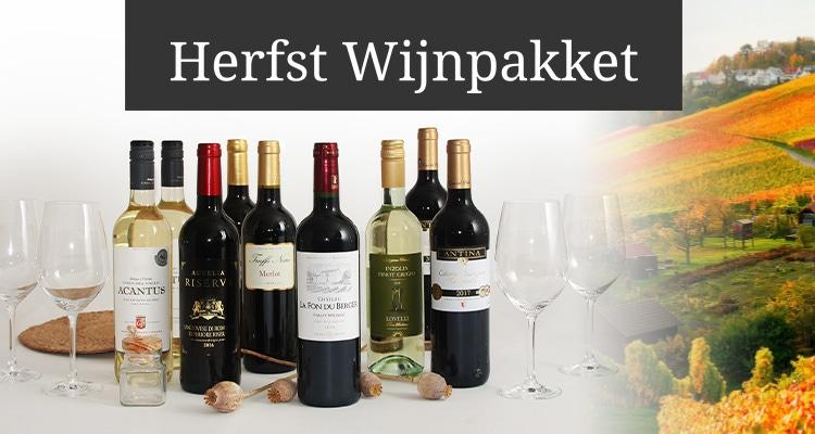 Herfst Wijnpakket met Glazen